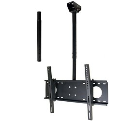 VideoSecu Adjustable Tilting Ceiling mount for most 32″-60″ LCD LED Plasma TV Flat Panel Display Fits Flat or Vaulted Ceiling, also to the wall extending 26-55″ MPC53BE 1UO