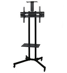 VIVO TV Cart for LCD LED Plasma Flat Panels Stand with Wheels Mobile fits 32″ to 65″ T.V. (STAND-TV01B)
