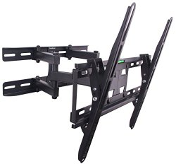 VonHaus Double Arm Articulating Cantilever TV Bracket Wall Mount with Tilt- for 23″-56″ LCD LED Plasma Flat Panels – Heavy Gage Reinforced Steel