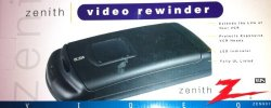 ZENITH 901 One-Way VHS Rewinder