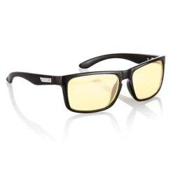 Gunnar Optiks INT-00101 Intercept Full Rim Advanced Video Gaming Glasses with Amber Lens Tint, Onyx Frame Finish