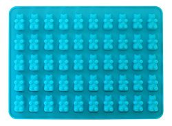 50 Cavity Silicone Bear & Chocolate Mold – Make Healthy Sugar Free Gummy's & Candies at Home: 1 Pack. By The Kitchen Fix