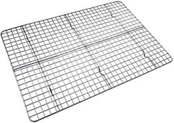Checkered Chef Cooling Rack – Baking Rack. Stainless Steel Oven Safe. Fits Half Sheet Cookie Pan