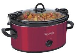 Crock-Pot SCCPVL600-R Cook' N Carry 6-Quart Oval Manual Portable Slow Cooker, Red