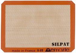Silpat AE420295-07 Premium Non-Stick Silicone Baking Mat, Half Sheet Size, 11-5/8-Inch x 16-1/2-Inch