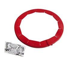 Talisman Designs Adjustable Pie Crust Shield, BPA-free Silcone, Red, Fits 8.5″ – 11.5″ Rimmed Dish