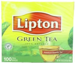 Lipton Green Tea, 100% Natural 100 ct
