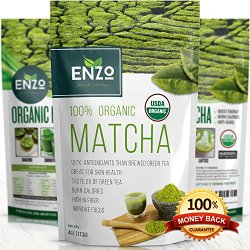 MATCHA Green Tea Powder – Fat Burner – 100% USDA Organic Certified