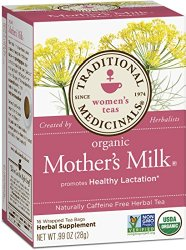 Traditional Medicinals Organic Mother's Milk, 16-Count Boxes, .99 oz., Pack of 6