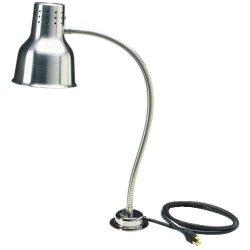 Carlisle HL818500 FlexiGlow Aluminum Heat Lamp with Bulb, Single Arm, 24″ H x 4″ Base Dia., Silver