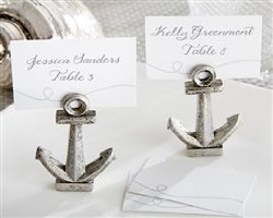"Kate Aspen ""Nautical"" Anchor Place Card/Photo Holder, Set of 6"