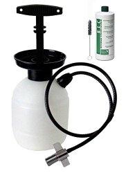 Kegco BF KPCK32 Deluxe Hand Pump Pressurized Keg Beer Cleaning Kit with 32 oz Cleaner, Black