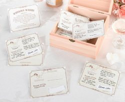 Lillian Rose Wishes Cards, 5.5-Inch by 4.25-Inch, Tan, Set of 48