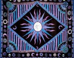 Celestial Tapestry-Bedspread-Throw-Coverlet-Versatile
