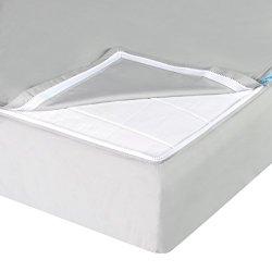 QuickZip Cotton Crib Sheet, 1 Zip-On Sheet + 1 Drop-in Base, Gray
