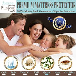 Waterproof Mattress Protector – Hypoallergenic Dust Mite, Bacteria, Allergy Control. Bed Bug Protection Barrier – 100% Satisfaction Guaranteed! (Queen Size 60″x80″)