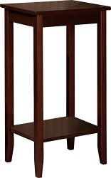 Dorel Home Products 5138096 End Table, Wood and Wood Veneer, 12 x 28-Inches, coffee brown