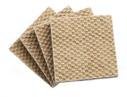 DURA-GRIP® Heavy Duty 2″ Square, 3/8″ Thick Non-Slip Rubber (No glue or nails) Furniture Floor Pads, Protectors-Set of 8