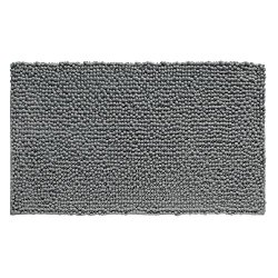 InterDesign Microfiber Frizz Bathroom Shower Accent Rug, 30 x 20, Charcoal