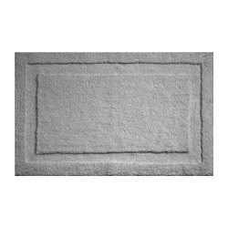 InterDesign Microfiber Spa Bathroom Accent Rug, 34 x 21, Gray