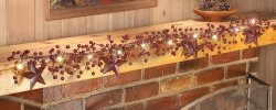 Led Primitive Country Berry & Star Garland