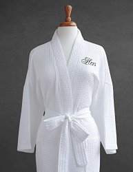 Luxor Linens Egyptian Cotton His/Hers Waffle Weave Robe – Perfect Wedding Gift! – Hers
