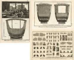 17 Antique Prints-COACH BUILDING-COACH-Panckoucke-1784