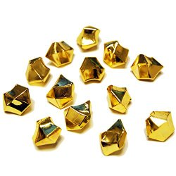 CYS Acrylic Rocks in Different Colors. Pack of 4 lbs (Gold)