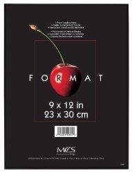 MCS 12604 Format Frame, 9 by 12-Inch, Black