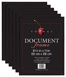 MCS Format Frame, 8.5 by 11-Inch, Black, 6-Pack