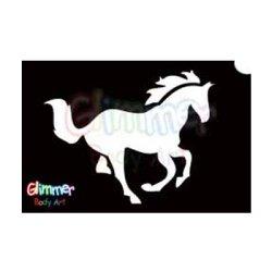 Glimmer Body Art Glitter Tattoo Stencils – Horse (5/pack)