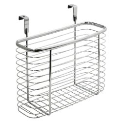 InterDesign Axis Kitchen and Office Over the Cabinet Storage organizer Basket, Chrome