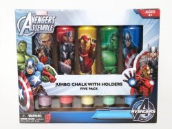 Marvel Avengers Assemble Jumbo Chalk with Holders