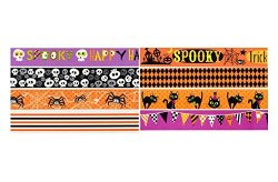 Halloween Decorative Tape, Pack of 8 Designs!