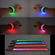 LED Light Up Snap Bracelet-Blue
