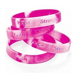 Lot Of 48 Pink Ribbon Camo ~ Breast Cancer Awareness Bracelets