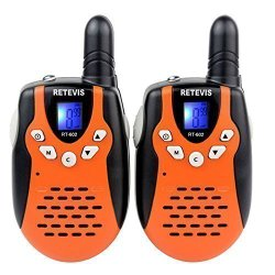 Retevis RT-602 Kids Walkie Talkies Rechargeable 22 Channel FRS/GMRS UHF 462.5625-467.7250MHz 2 Way Radio for Kids (Orange, 1 Pair)