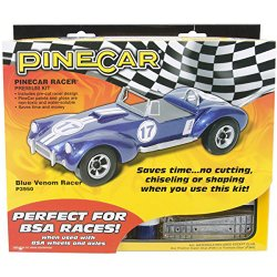 Woodland Scenics Pine Car Derby Racer Premium Kit, Blue Venom