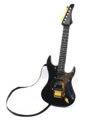22″ Hot Rock Electric Battery Operated Toy Guitar, Plays 4 Different Rock Rhythms, Integrated Auto Play Demo Mode, Working Whammy/Tremolo Bar (Colors May Vary)