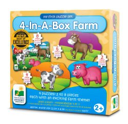 The Learning Journey My First Puzzle Set 4-In-A-Box! Farm