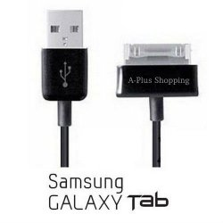 10 Foot. Extra Long USB Data Cable Cord Charger for Samsung Galaxy Tab 1, 2 10.1, Note Tablet GT-N8013 Black (A-Plus Shopping) – USA Seller