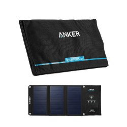 Anker PowerPort Solar Charger (21W 2-Port USB Solar Panel Charger) with PowerIQ Technology and Industry-Leading SUNPOWER Solar Cell for iPhone 6s / 6 / Plus, iPad Air / mini, Galaxy S6 and More