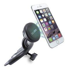 Car Mount, TechMatte MagGrip CD Slot Magnetic Universal Car Mount Holder for iPhone 6S, Samsung Galaxy S6/S6 Edge/S5, LG G4, Apple iPhone 6/5S/5C/5/4S/4, HTC One M7/M8/M9, Nexus 5X