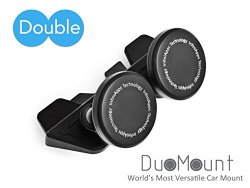 InfiniApps DuoMount, Universal CD Slot Magnetic Cradle-less Smartphone Car Mount Holder for iPhone 6s 6s+ 6 6+ 5 5S, Samsung Galaxy S6 S5 S4 Note 5. Patented Quick-snap technology