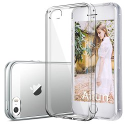 iPhone 5S case,iPhone 5 case,by Ailun,Shock-Absorption Bumper,TPU Clear cover,More Durable and Anti-Scratch&Fingerprints than PC Board,Siania Retail Package[Crystal Clear]