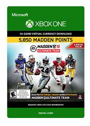 Madden NFL 16: 5850 Points – Xbox One [Digital Code]