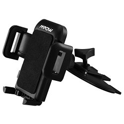 Mpow Grip Pro 2 Universal CD Slot Car Mount Holder for iPhone 6S/6+/5,Samsung Galaxy and More,with Just A Push, 360 Degree Rotation