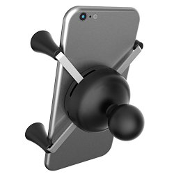 Ram Mount Cradle Holder for Universal X-Grip Cellphone/iPhone with 1-Inch Ball – Non-Retail Packaging – Black