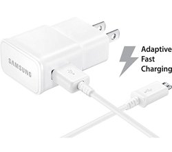Samsung Travel Charger for Galaxy Note 4/Edge S6 – Non-Retail Packaging – White