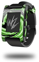 Alecias Swirl 02 Green – Decal Style Skin fits original Pebble Smart Watch (WATCH SOLD SEPARATELY)